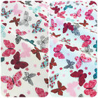 Butterfly fabric Ivory or mint colour per 1/2 metre/fat quarter 100 % cotton