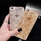 Glitter Bling ShockProof Soft Silicone TPU Back Case Cover For iPhone & Samsung