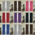 RING TOP EYELET BLACKOUT  (THERMAL) READY MADE CURTAINS. 6 x COLOURS  6 x SIZES