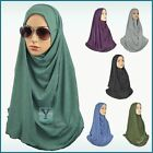 1 Piece warm Hijab Ready Made ✿ Pull on Scarf Instant Jersey Stretch Pin free