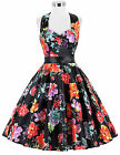 Vintage Style Swing 70 50s 60s Housewife Retro Pinup Formal EVENING Prom Dress