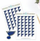 St. Louis Blues Planner Stickers - Perfect for all Planners like Erin Condren $4.0 USD on eBay