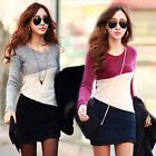 Women Ladies Winter Long Sleeve Knitted Jumper Sweater Tops Pullover Dress