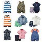 NWT Carter's Infant Boy 1 & 2-Pc Outfits Sets Sizes 0-24 Mo Summer Shorts Romper