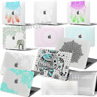 Rubberized Hard Totems Printing Cutout Case Cover For Macbook 11/13/15 Laptop+KB