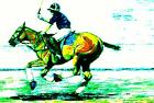 HORSE PRINT Giclee POLO DOWN THE FIELD artist BETS 7 COLORS print size 14 X 19