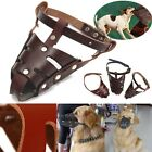 Adjustable Leather Pet Dog Safety Muzzle Mesh Cover Anti Bite Chew Stop Barking