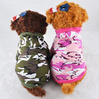 Camo Dog Hoodie Hooded Pet Clothes Small Shirt Sweater XS L FOR SMALL DOGS