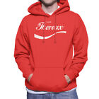 Louis Theroux Coca Cola Men's Hooded Sweatshirt £24.95  on eBay