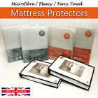 Quilted / Fleecy / Terry Towel Waterproof Mattress Protector Fitted Bed Cover