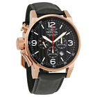 Invicta I-Force Chronograph Rose Dial Black Leather Mens Watch  - Choose color