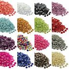 2000pcs Half Round Bead Flat Back Acrylic Pearl Scrapbooking Embellishment 2-4mm