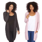 Womens Ladies Cardigan Open Front Chunky Knit House Coat Outerwear Top Jumper