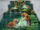 Tigers playing in the water 4 Piece bedding set   -5 sizes available