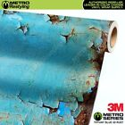 METRO SERIES SATIN TIFFANY BLUE 3D RUST Vinyl Vehicle Car Wrap Film Sheet Roll