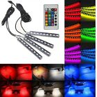 4in1 LED RGB Car Interior Atmosphere Light Footwell Cigarette Lighter Decor Lamp