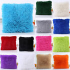 Soft Plush Square Pillow Case Sofa Waist Throw Cushion Cover Home Decoration US