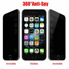 For iphone 5 6 6S 7 Plus Dark Anti-Spy Privacy Tempered Glass Screen Protector