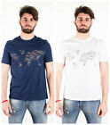 T shirt Alviero Martini Prima 1 Classe 2811 world map white blu man