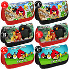 ANGRY BIRDS Personalised Pencil Case Make Up Bag Space Shool Any Name Kids Gift