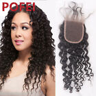 """8A 100% Brazilian Hair Lace Closure Deep Curly 3.5*4 Free/Middle/3 Part 8""""-20"""""""