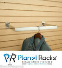 "10 Planet Racks Slatwall C-Rail 24"" x 12"" RectangularTube Chrome or Black"