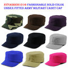 NYFASHION101® Fashionable Solid Unisex Fitted Army Military E-Flag® Cadet Cap