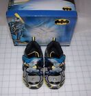 BOYS TODDLER BATMAN LIGHT UP SHOES MULTIPLE SIZES ONE COLOR BLK/GRY NEW IN BOX