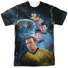 Star Trek Original Series Cast AMONG THE STARS 1-Sided Big Print Poly T-Shirt