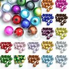 10/20/40/80/120pcs Round Beads Acrylic Illusion Miracle 18 Colours 4/6/8/10/12mm