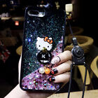 Bling Glitter Liquid Sparkle Soft bumper Case Cover W/ Ring For iPhone 7 Plus 6S