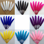 50xCollectable Color Goose Feather Lady Hats Party Craft Accessorie 3.15-5.9inch