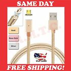 LOT MAGNETIC MICRO USB CHARGER CABLE ANDROID 3 FT PHONE RAPID WALL 10 CHARGING