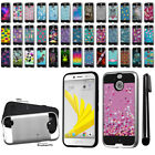 "For HTC Bolt / 10 Evo 5.5"" Shockproof Brushed Hybrid Protector Cover Case + Pen"