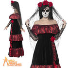 Day of the Dead Zombie Corpse Bride Costume Womens Halloween Ladies Fancy Dress