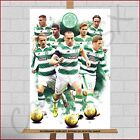 Celtic FC The Hoops Glasgow Football Club Top Team Players Canvas Print Poster