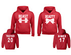 BEAST -BEAUTY Couples HOODIE Together Since 2017 Matching Valentines Day Sweater