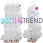 6,12 Pairs White Frilly Lace Socks Girls Baby Kids Ankle Cotton School Sock New