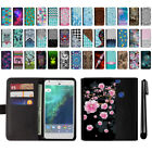 "For Google Pixel XL 5.5"" HTC Magnetic Flip Wallet Leather POUCH Case Cover + Pen"