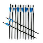 """12pcs 22"""" Carbon Arrows Crossbow Bolts for Crossbow Hunting Archery Hunter Blue"""