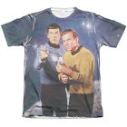 Star Trek Original Series Spock & Kirk PROTECTORS 1-Sided Poly Cotton T-Shirt