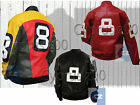 Men's 8 Ball Bomber Cow-Hide Real Leather Motorcycle Style Jacket - All Colors $179.99 USD on eBay