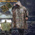 Chic Waterproof Army Hooded Ripstop Festival Rain Poncho Military Camping Hiking