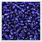 20g - 100g Silver Lined Blue Seed beads Size 8/0. JM28