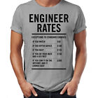 Engineer Labour Rates Mens Funny T Shirt - Gift for Dad Father's Day