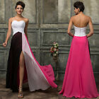 SPLIT Long Prom Party Evening Formal Bridesmaid Dress Maxi Gown Cocktail Wedding