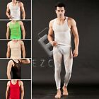 Fashion Men's Mesh Slim Fit Top Tank Vest+Legging Underwear Soft Casual Set CA