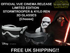 Star Wars: The Force Awakens 3D GLASSES | Stormtrooper or Kylo Ren | Vue Cinema £13.99 GBP