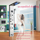 Stainless Steel Shower Panel Tower Rainfall Waterfall Massage Body System Tap