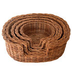 Top Quality Oval Rattan Wicker Dog Basket Bed in choice of 5 sizes